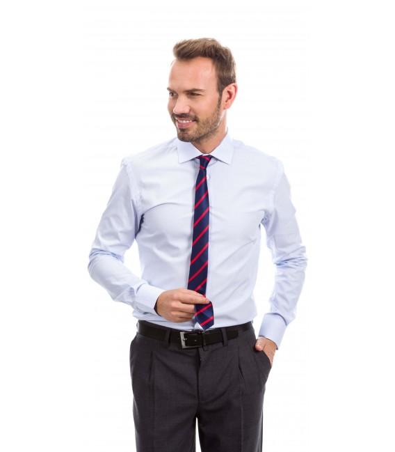 Camisa a medida rayas azul claro