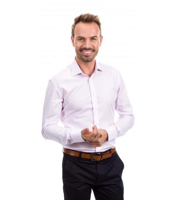 Camisa a medida rayas rosa
