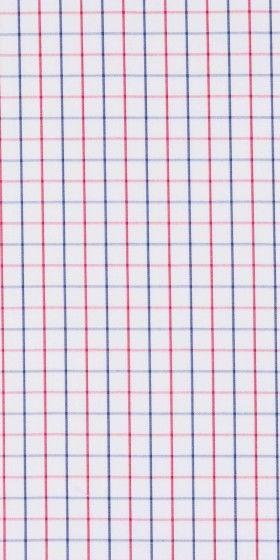 Camisa a medida cuadros rojo y azul