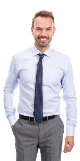 Camisa a medida Oxford azul