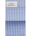 Camisa de cuadros blanco y azul