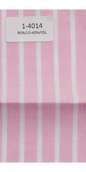 Camisa rosada de rayas blancas