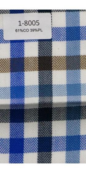 Camisa a cuadros azul marron blanco