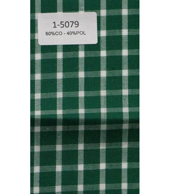 Camisa verde de cuadros