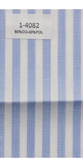 Camisa de rayas azul y blanco