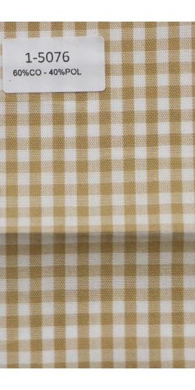 Camisa de cuadros beige