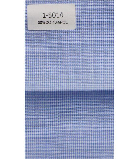 Camisa de azul pata de gallo