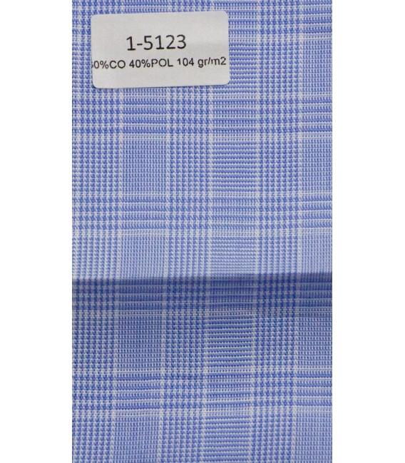 Camisa de cuadro azul