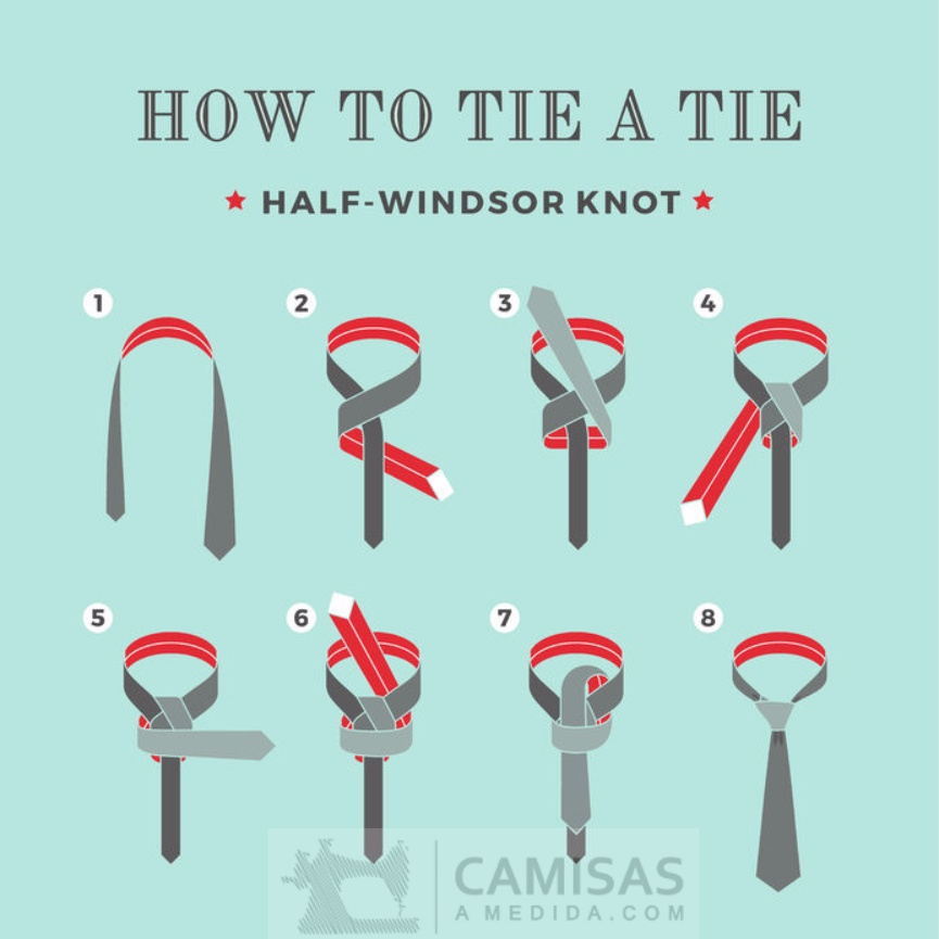 Como hacer el nudo medio Windsor