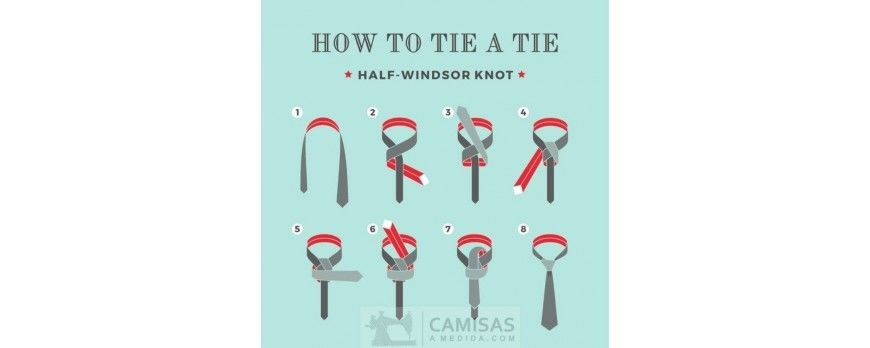 El nudo Medio Windsor