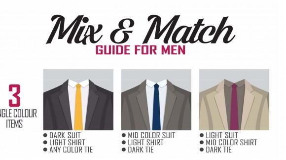 ¿Como combinar traje, camisa y corbata?