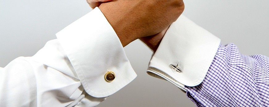 Camisas de puño doble y gemelos